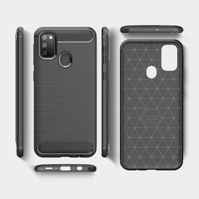 Carbon kryt na Samsung Galaxy M21 Čierny
