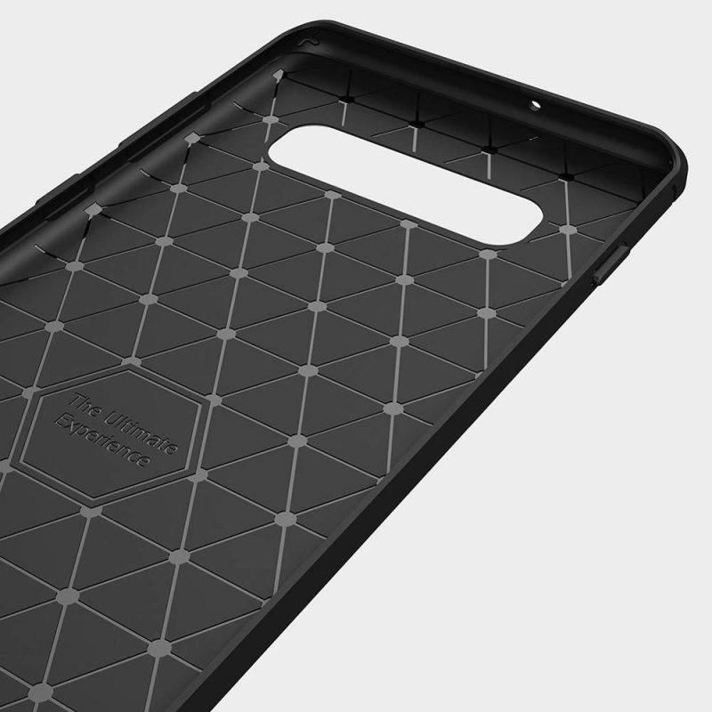 Carbon kryt na Samsung Galaxy S10 Plus Black