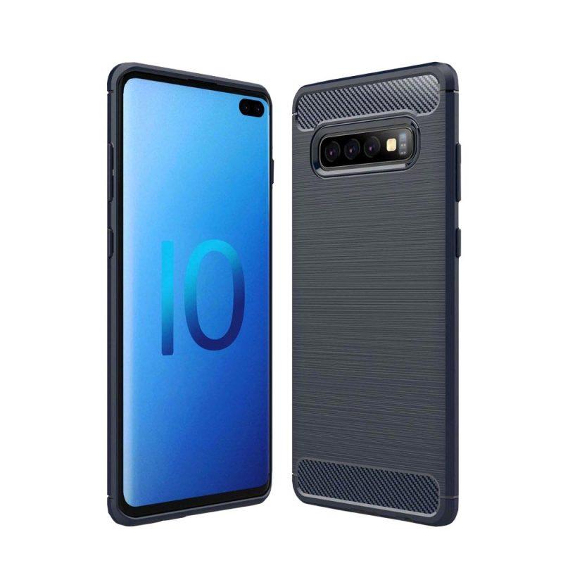 Carbon kryt na Samsung Galaxy S10 Plus Blue