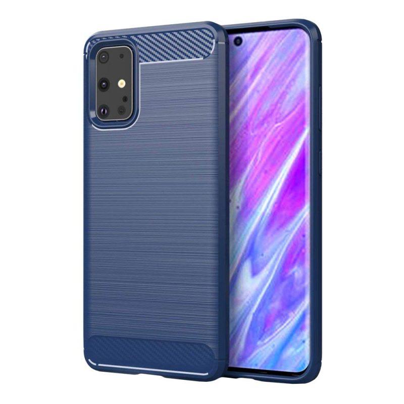 Carbon kryt na Samsung Galaxy S20 Ultra Modrý