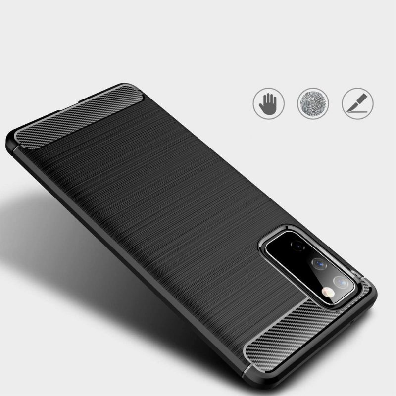 Carbon kryt na Samsung Galaxy S20 FE Čierny