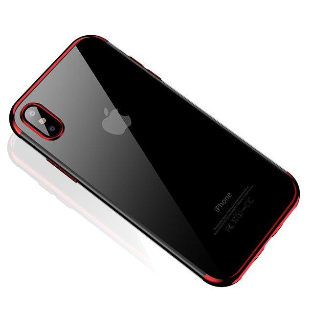 Electroplating kryt na Samsung Galaxy A70 Červený