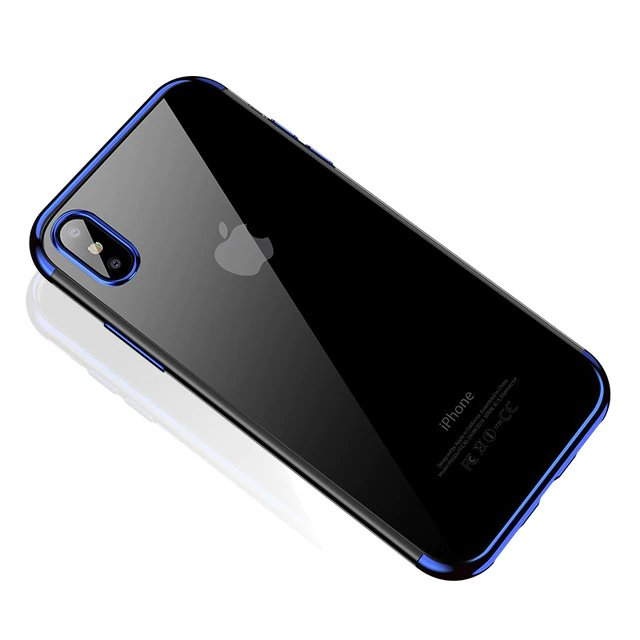 Electroplating kryt na Samsung Galaxy A70 Modrý