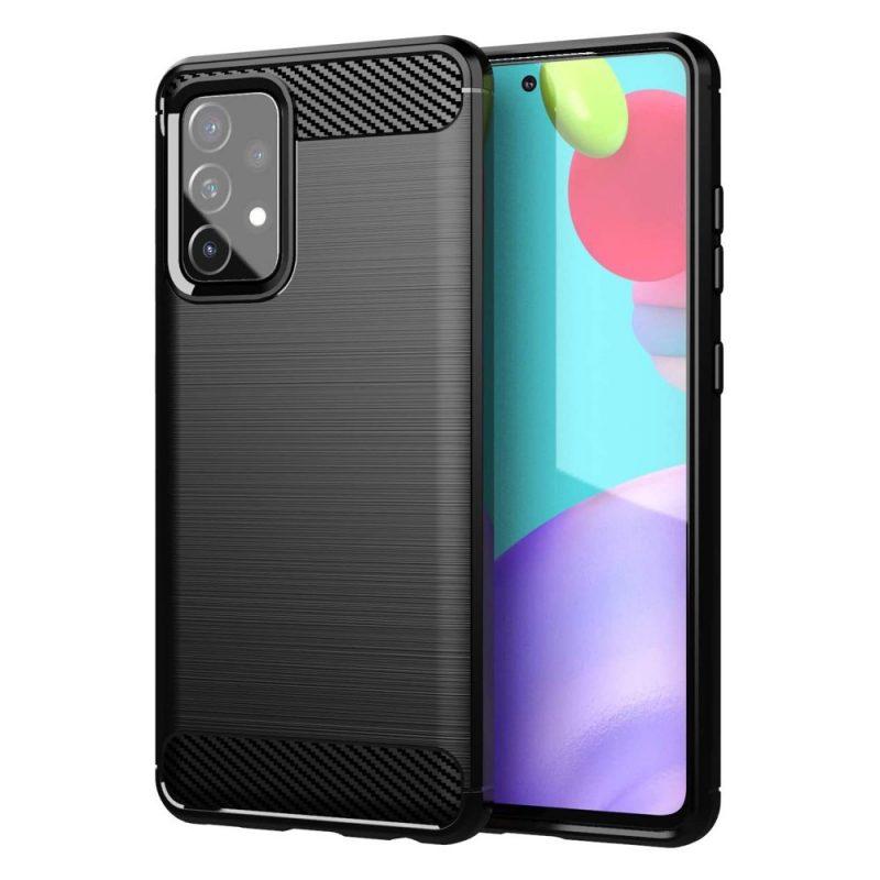 Flexible Carbon kryt na Samsung Galaxy A72 Čierny