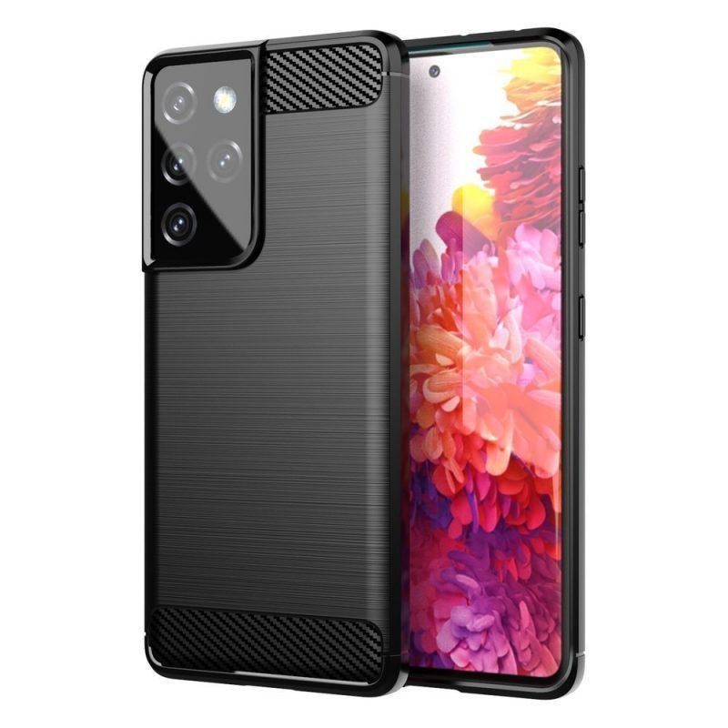 Flexible Carbon kryt na Samsung Galaxy S21 Ultra Čierny