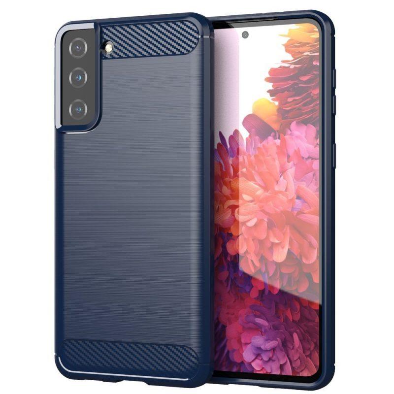 Flexible Carbon kryt na Samsung Galaxy S21 Plus Modrý