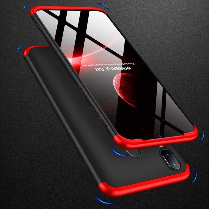 Odolný Full Body kryt na Samsung Galaxy A40 Black-Red