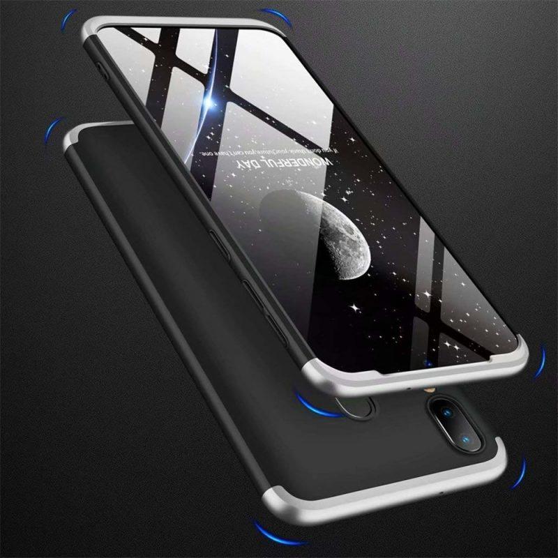 Odolný Full Body kryt na Samsung Galaxy A40 Black-Silver