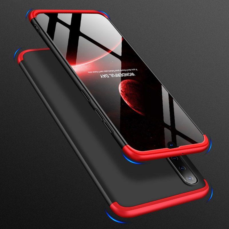 Odolný Full Body kryt na Samsung Galaxy A70 Black-Red