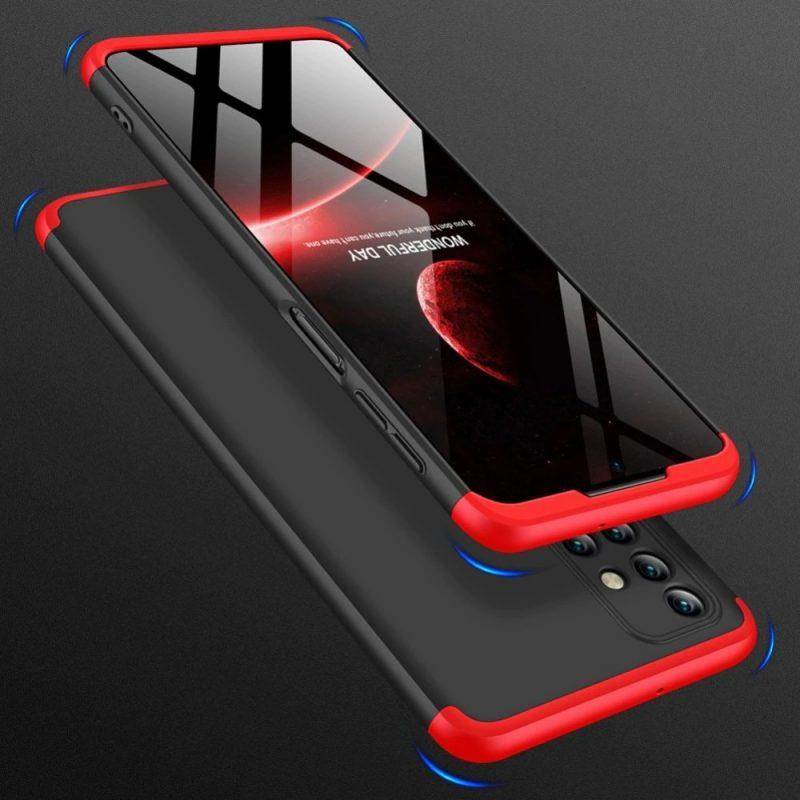 Odolný Full Body kryt na Samsung Galaxy M31s Black-Red