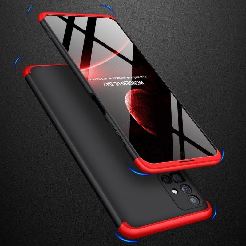Odolný Full Body kryt na Samsung Galaxy M51 Black-Red