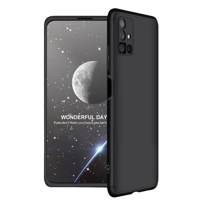 Odolný Full Body kryt na Samsung Galaxy M51 Čierny