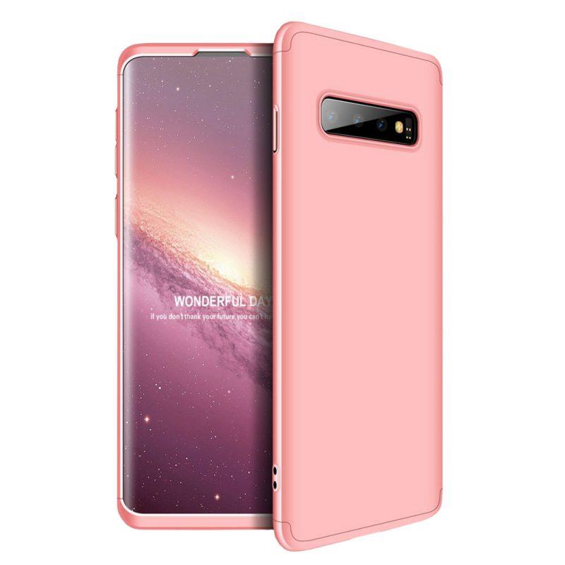 Odolný Full Body kryt na Samsung Galaxy S10 Plus Ružový