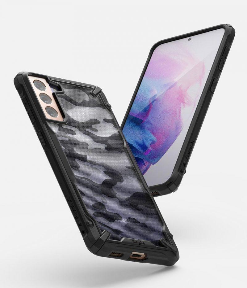Fusion X Design odolný kryt na Samsung Galaxy S21 Plus Camo Black