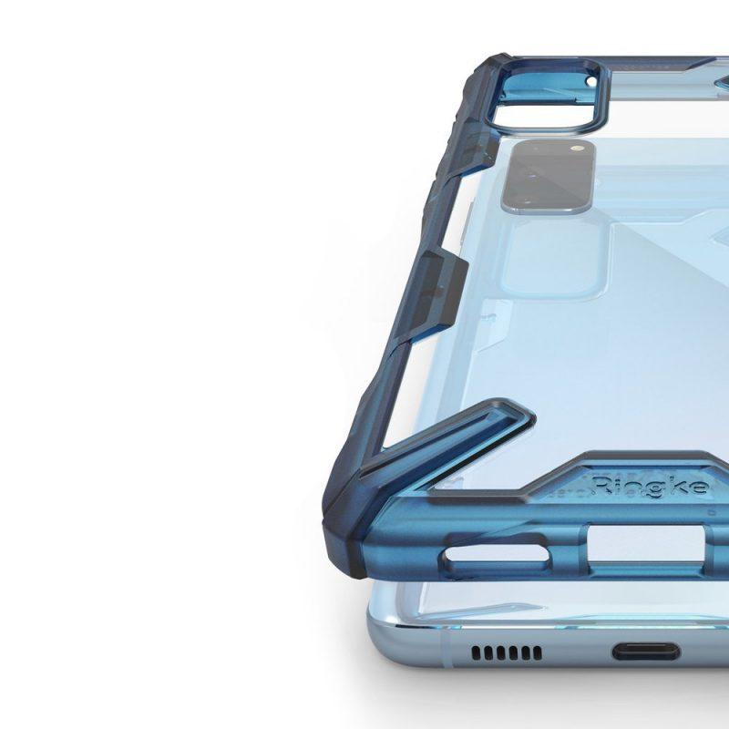 Fusion X Durable kryt na Samsung Galaxy S20 Modrý