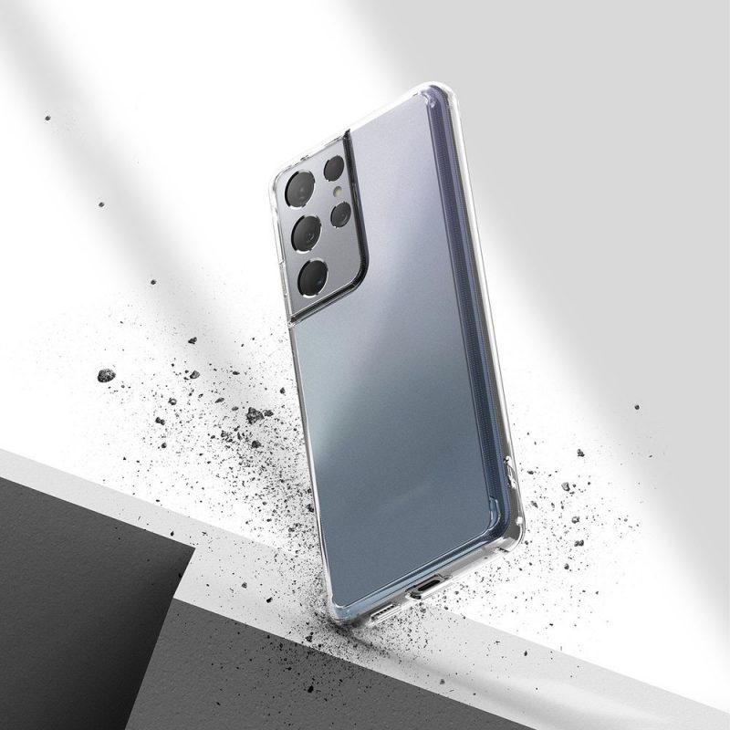 Fusion Matte kryt na Samsung Galaxy S21 Ultra Transparent