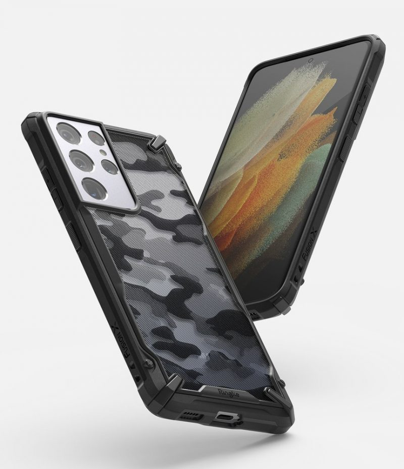 Fusion X Design kryt na Samsung Galaxy S21 Ultra Camo Black