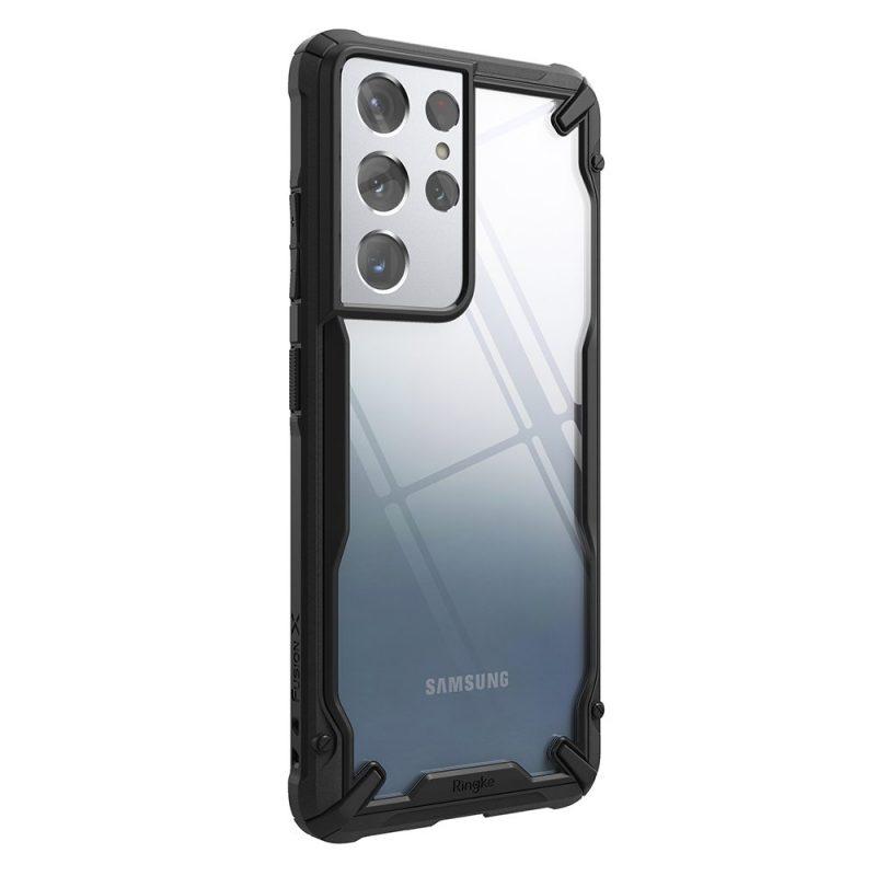 Fusion X durable kryt na Samsung Galaxy S21 Ultra Čierny