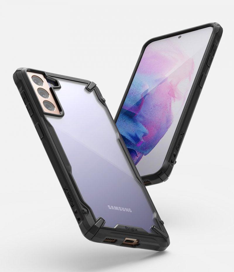 Fusion X odolný kryt na Samsung Galaxy S21 Plus Čierny