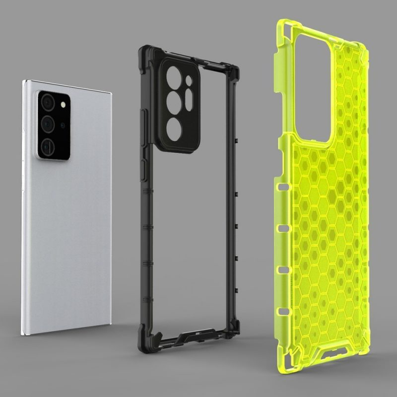 Kryt na Samsung Galaxy Note 20 Honeycomb Transparent