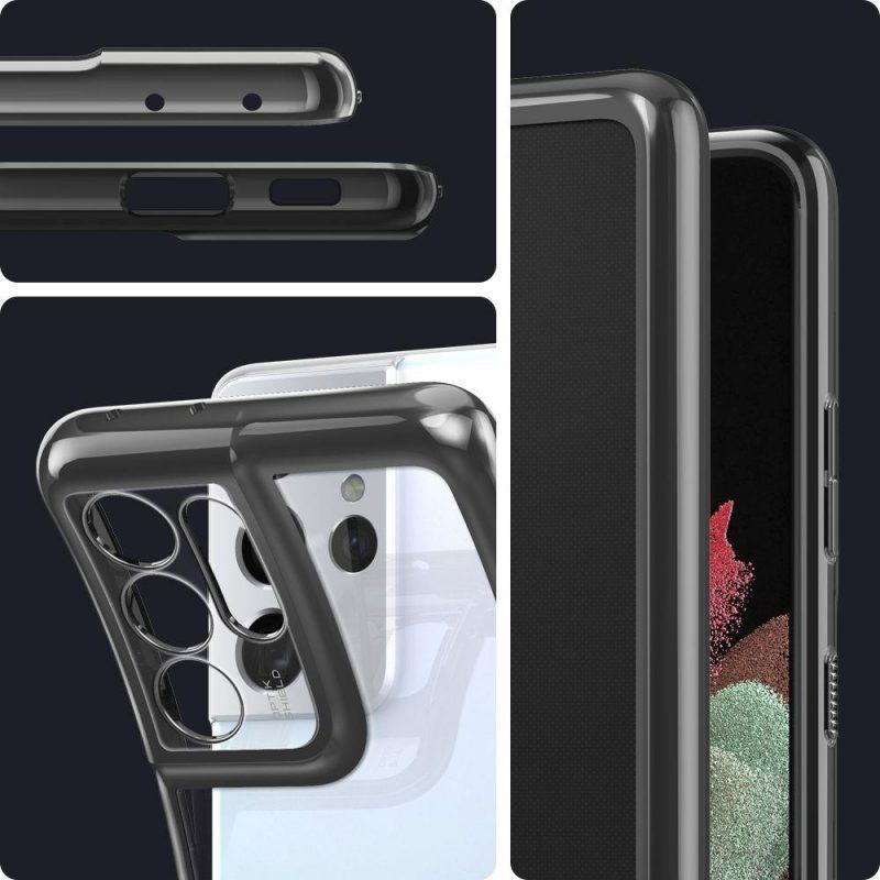 Kryt na Samsung Galaxy S21 Ultra Chrome Grey