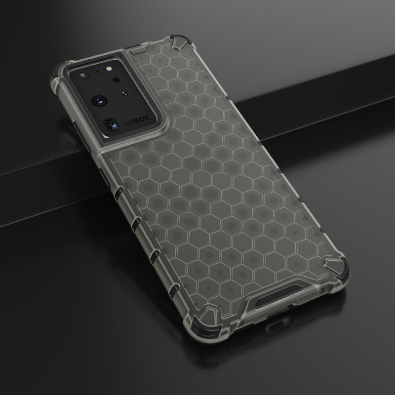Kryt na Samsung Galaxy S21 Ultra HoneyComb Armor Black