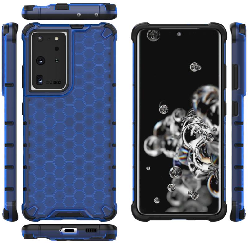 Kryt na Samsung Galaxy S21 Ultra HoneyComb Armor Blue