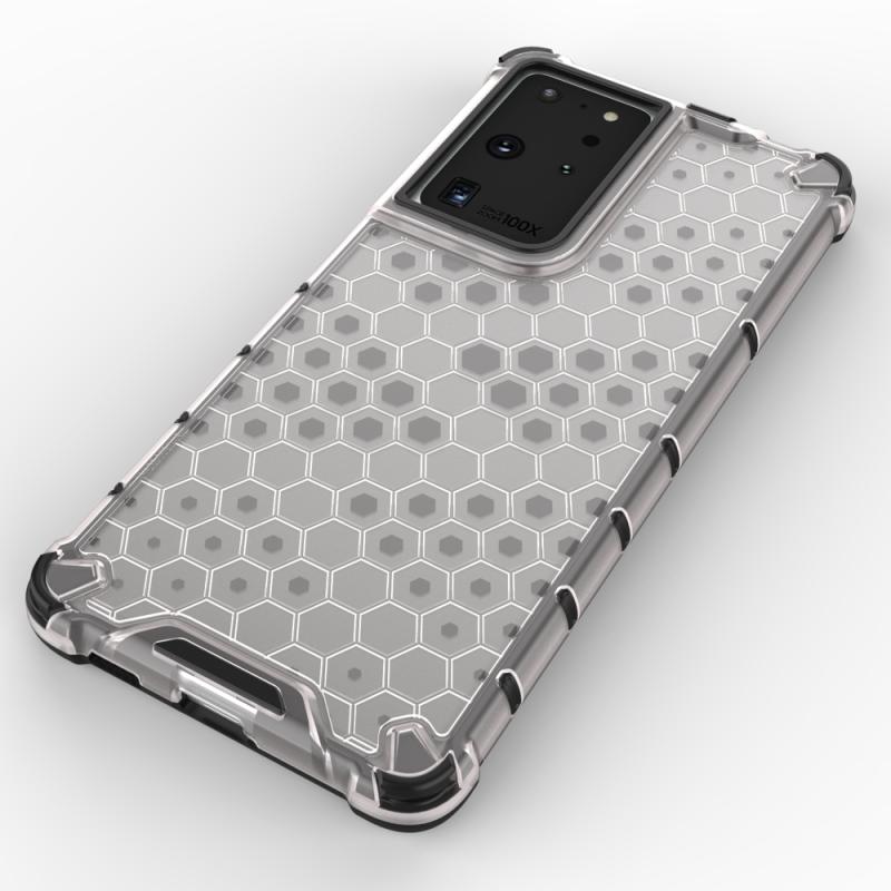 Kryt na Samsung Galaxy S21 Ultra HoneyComb Armor Transparent