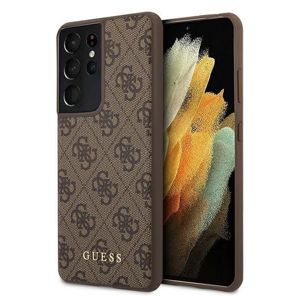 Guess kryt na Samsung Galaxy S21 Ultra Brown Gold Logo