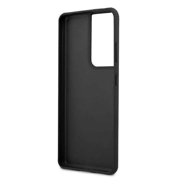 Guess kryt na Samsung Galaxy S21 Ultra Grey Metal Logo