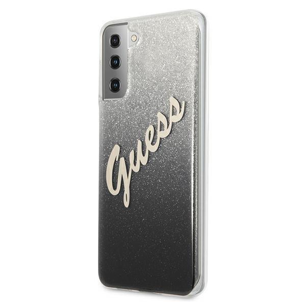 Guess kryt na Samsung Galaxy S21 Plus Black Glitter Gradient