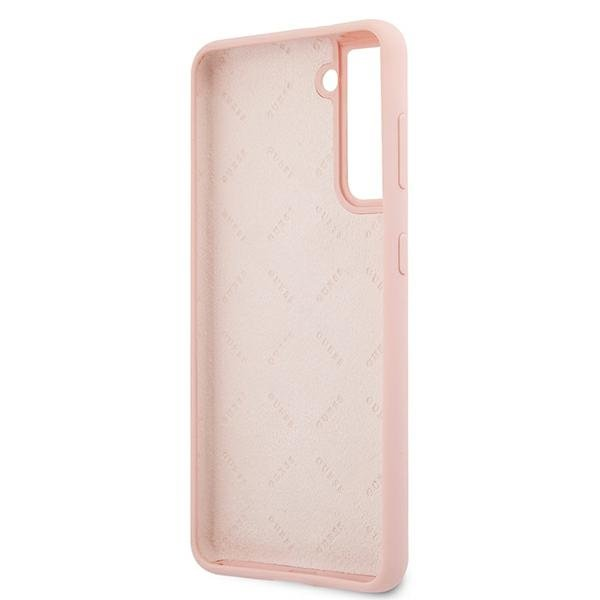 Guess silikónový kryt na Samsung Galaxy S21 Plus Pink Sand