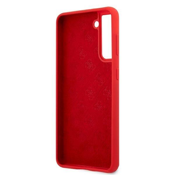 Guess silikónový kryt na Samsung Galaxy S21 Plus Červený