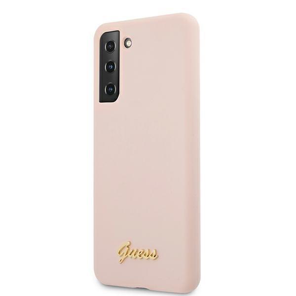 Guess silikónový kryt na Samsung Galaxy S21 Plus Ružový