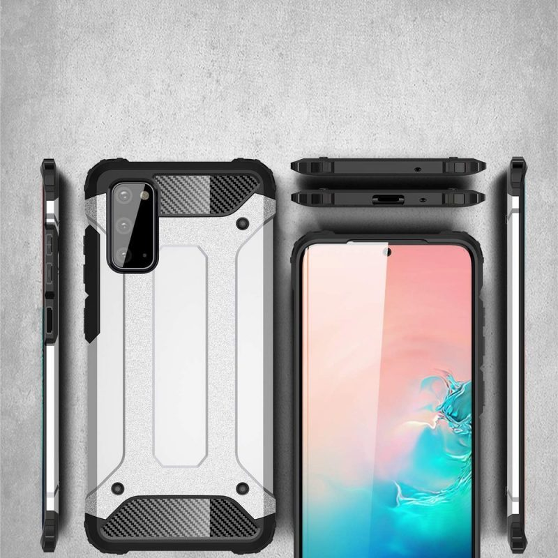 Hybrid Armor kryt na Samsung Galaxy A41 Silver