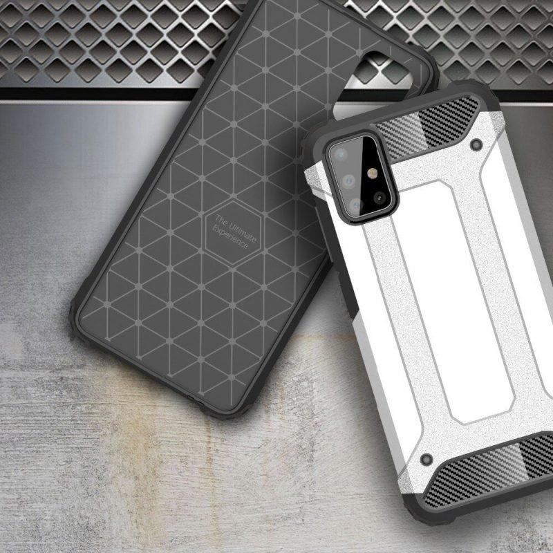 Hybrid Armor kryt na Samsung Galaxy A71 Silver