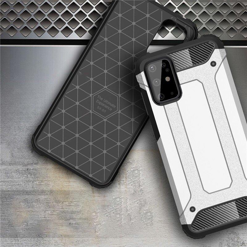 Hybrid Armor kryt na Samsung Galaxy S20 Plus Silver