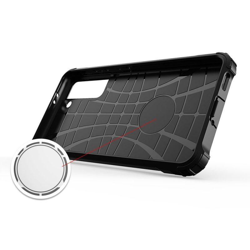Hybrid Armor kryt na Samsung Galaxy S21 Ultra Čierny