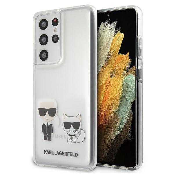 Karl Lagerfeld Kryt na Samsung Galaxy S21 Ultra Transparent