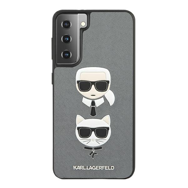 Karl Lagerfeld kryt na Samsung Galaxy S21 Silver Hard Case