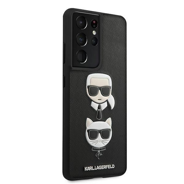 Karl Lagerfeld kryt na Samsung Galaxy S21 Ultra Black Saffiano Ikonik