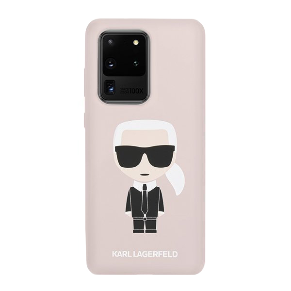 Karl Lagerfeld Silikónový kryt na Samsung Galaxy S20 Ultra Pink