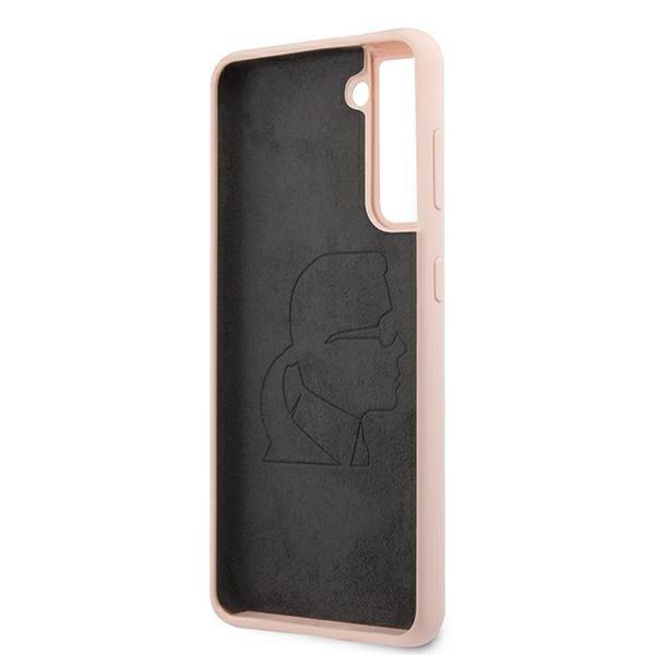 Karl Lagerfeld silikónový kryt na Samsung Galaxy S21 Plus Pink Sand