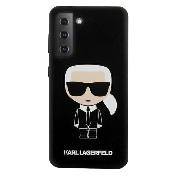 Karl Lagerfeld silikónový kryt na Samsung Galaxy S21 Čierny