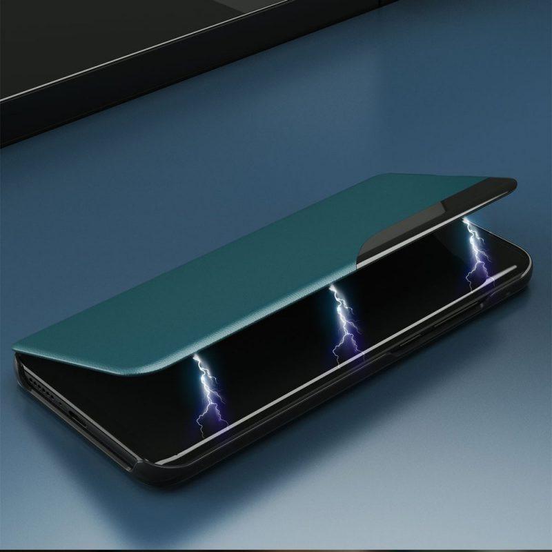 Kožené ECO Flip puzdro na Samsung Galaxy S21 Plus Zelené