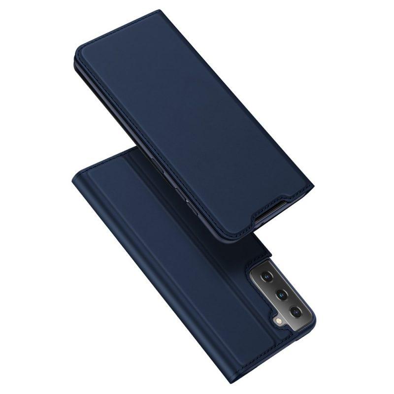 Kožené Flip Puzdro na Samsung Galaxy S21 Ultra Modré