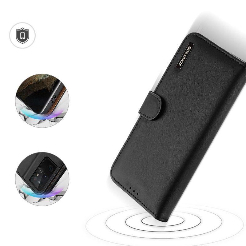 Kožené Flip puzdro na Samsung Galaxy S21 Ultra Čierne