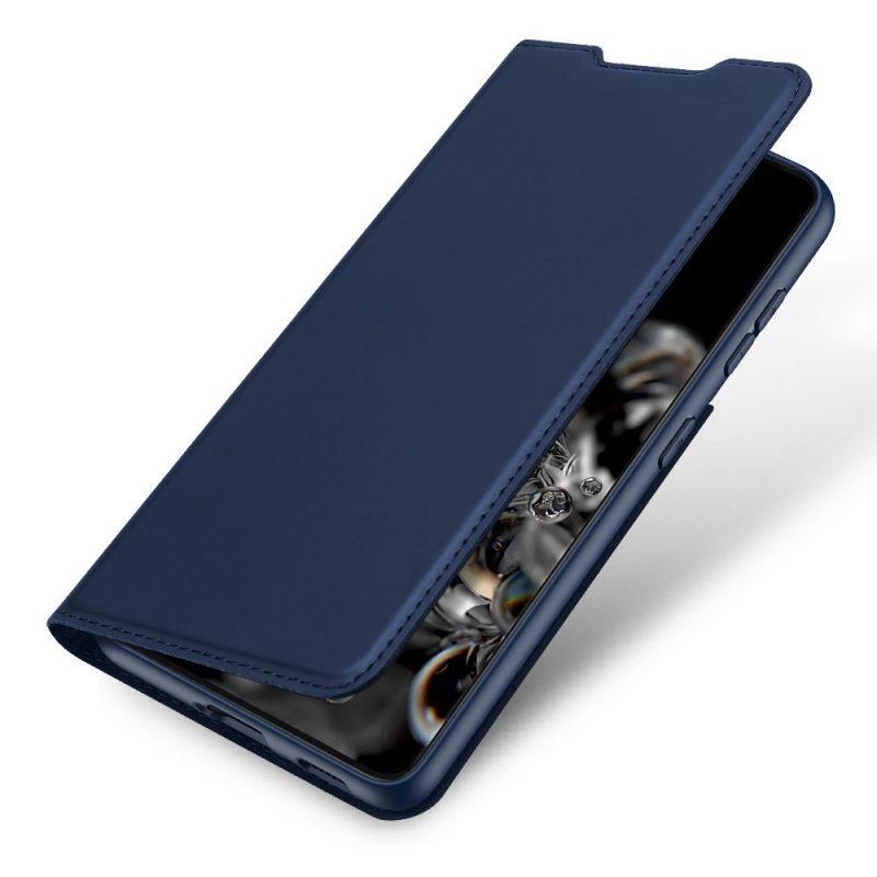 Kožené Flip puzdro na Samsung Galaxy S21 Plus Dark Blue