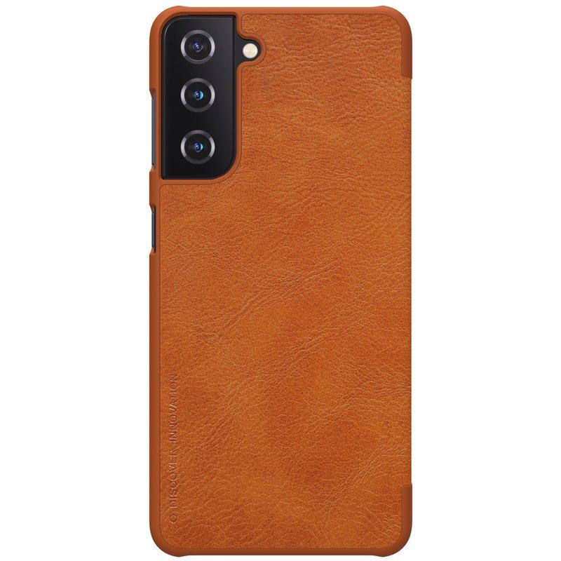 Kožené ochranné Flip puzdro na Samsung Galaxy S21 Plus Hnedé