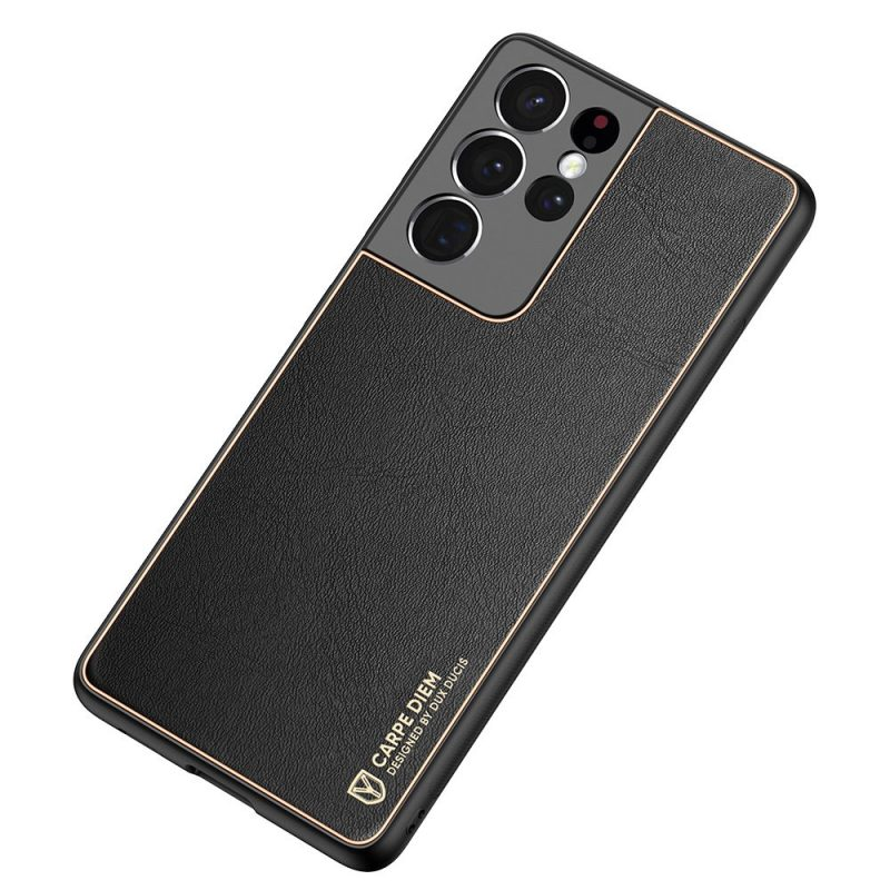 Kožený kryt na Samsung Galaxy S21 Ultra Čierny
